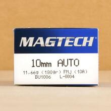 Image of Magtech 10mm pistol ammunition.