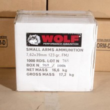 7.62x39 WOLF FMJ UKRAINE 123 GRAIN (FULL METAL JACKET)