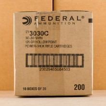 An image of 30-30 Winchester ammo made by Federal at AmmoMan.com.
