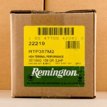 Image of 357 MAGNUM REMINGTON HTP 158 GRAIN SEMI JACKETED HOLLOW POINT (500 ROUNDS)