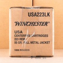 Photo of 223 Remington FMJ ammo by Winchester for sale.