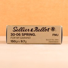 Image detailing the brass case on the Sellier & Bellot ammunition.