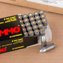 Image of 9mm Luger pistol ammunition at AmmoMan.com.