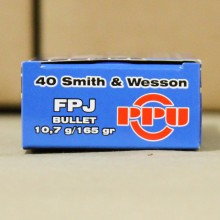 .40 S&W PRVI PARTIZAN 165 GRAIN FULL METAL JACKET #PPR4.02 (500 ROUNDS)