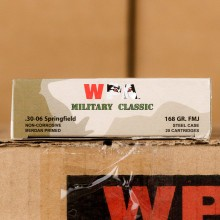 Photograph showing detail of 30-06 SPRINGFIELD WPA MILITARY CLASSIC 168 GRAIN FMJ (500 ROUNDS)