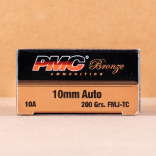 Image of 10mm ammo by PMC that's ideal for training at the range.