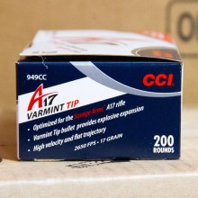 An image of 17 HMR ammo made by CCI at AmmoMan.com.