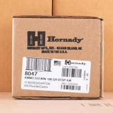 Photo of 243 Winchester soft point ammo by Hornady for sale.