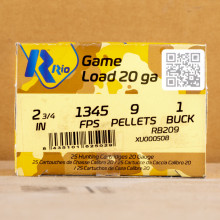Photograph of Rio Ammunition 20 Gauge #1 BUCK for sale at AmmoMan.com