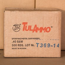 40 S&W TULA 180 GRAIN FMJ (500 ROUNDS)