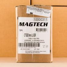 Image of 9MM LUGER MAGTECH 115 GRAIN FMJ (1000 ROUNDS)