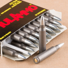 A photograph of 1000 rounds of 55 grain 223 Remington ammo with a FMJ bullet for sale.