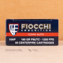A photo of a box of Fiocchi ammo in 10mm.
