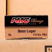 Image of 9MM PMC 115 GRAIN FULL METAL JACKET (1000 ROUNDS)