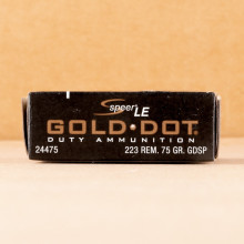 An image of 223 Remington ammo made by Speer at AmmoMan.com.