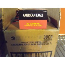 30 CARBINE FEDERAL AMERICAN EAGLE 110 GRAIN FMJ (50 ROUNDS)