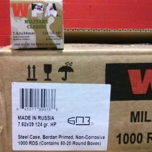 7.62X39 WOLF WPA 124 GRAIN HP (20 ROUNDS)